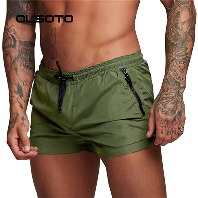 ALSOTO 2019 Summer Swimwear Men Swimsuit Swimming Trunks Boxer Short Mens Swim Briefs