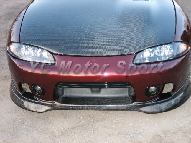 Car Accessories Carbon Fiber P2 Style Front Lip Fit For 1997-2000 Eclipse Front Lip Front Splitter Car-stying