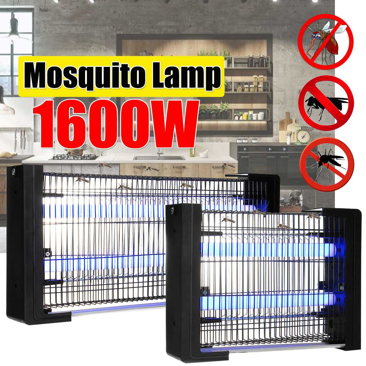 3W/6W 220V Electric Shock Mosquito Killer Lamp LED Light Insect Killer Energy Saving Anti Mosquito Lamp Bug Fly Zapper Repellent
