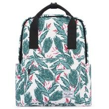 School Backpack for Teenage Girl 2019 Canvas Leaf Printed Bookbag Lightweight Woman Fashion Shoulder Bag Travel Laptop Back Bag цена в Москве и Питере