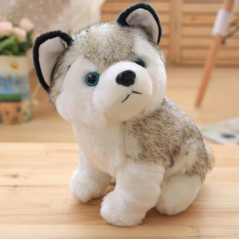 BABIQU 1pc Lovely 18/23/28cm Sitting Husky Dog Simulation Cartton Plush Toy Soft Stuffed Doll Animal Child Kid Baby Cute Gifts