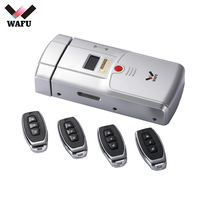 Wafu 2018 New Invisible Electronic Door Lock Wireless Remote Control Opeing With Dual Circuits Unlocked For