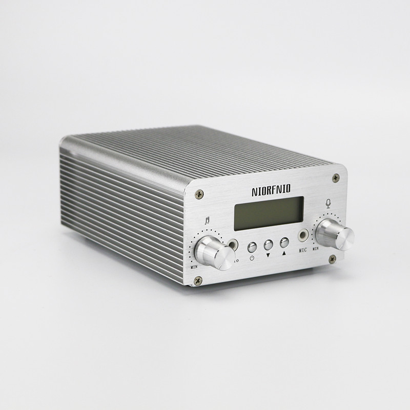 NIO-T6B 1W/6W FM Stereo Transmitter Professional Audio Amplifier 76MHz to 108MHz free shipping nio t6a 1w 6w rf power radio fm broadcast equipment 76mhz to 108mhz adjustable