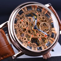 Orkina Royal Carving Hollow Skeleton Design Wristwatch Men Watch Top Brand Luxury Mechanical Watch Montre Homme