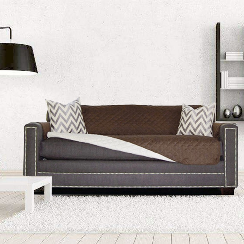 Quilted Couch Covers with Waterproof Back for Sofa and Armchair in Living Room to Protect the Sofa from Scratches 3