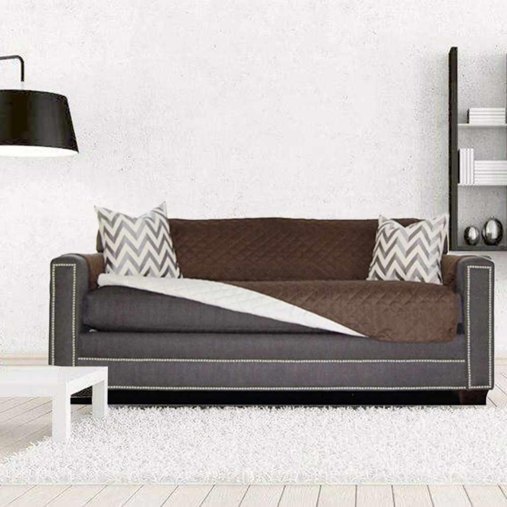 Moins cher matelassé canapé couvre pour chiens animaux enfants anti-dérapant canapé inclinable housses fauteuil meubles protecteur 1/2/3 places