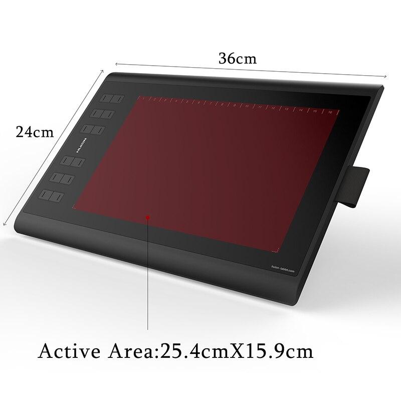 HUION nouveau 1060 Plus 8192 niveaux tablettes de dessin graphique tablettes de stylo numérique avec cadeau de Film et carte TF 8GB - 2