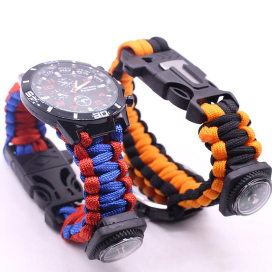 Military Outdoor Paracord Survival Bracelet Compass (10)