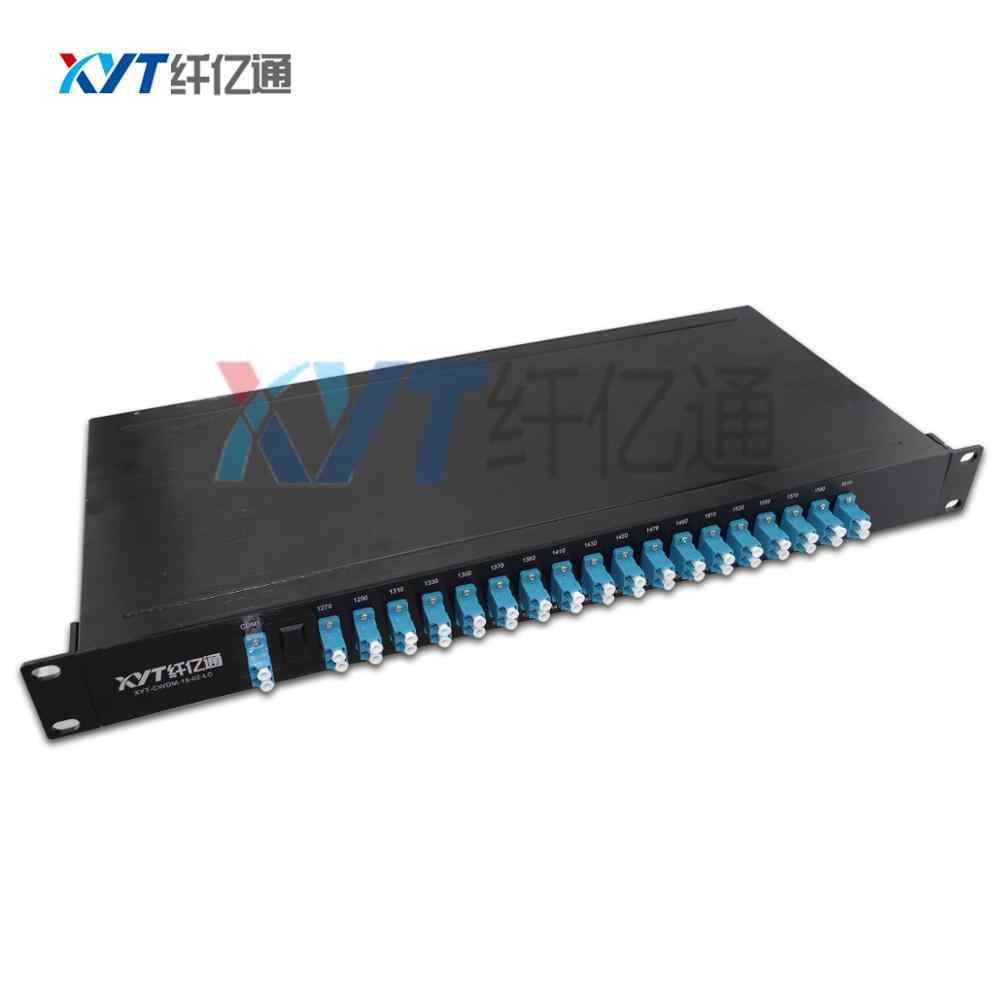 1U Стойки один волокна 18 канала 1270-1610nm CWDM mux демультиплексора