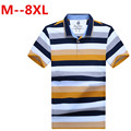 8XL 7XL 6XL 5XL 4XL 2017 Classic Striped Polo Shirt Brand Men's Cotton Poloshirt Breathable Casual Polo Hommes Polos Top Shirts