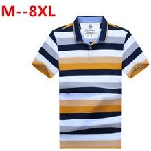 8XL 7XL 6XL 5XL 4XL 2017 Classic Striped Polo Shirt Brand Men's Cotton Poloshirt Breathable Casual Polo Hommes Polos Top Shirts