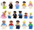 Legoe duplo figuras de construcción de la granja casa conjunto compatible legoe duplo zoo/tren educación juguete original