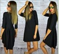 new arrival girls causal summer soft sexy slim dress women holiday beach loose black dress office clothing Plus size M L#E177