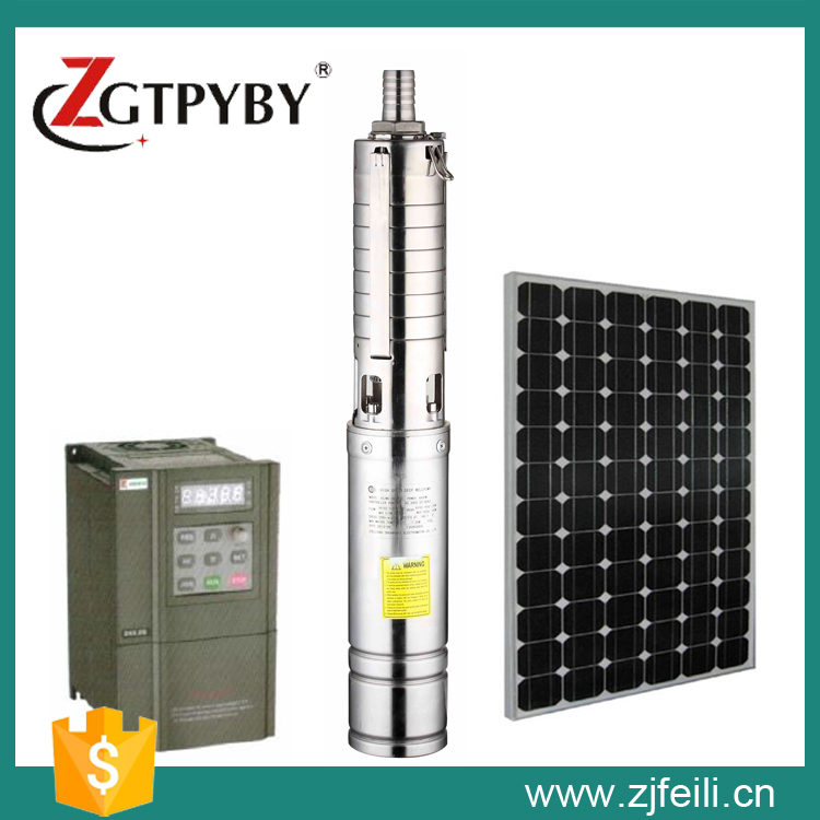 3 4 and 6 dc solar deep well pump dc solar Exported to 58 Countries dc solar pump exported to 58 countries and beijing olympic use feili pump solar pump for deep well