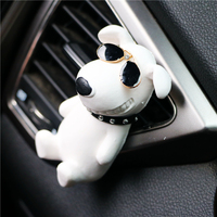 Gypsum Dog Car Air Freshener Essential Oil Auto AC Vent Clip Car styling Perfume Clip Flower Scent Fragrancy Solid Diffuser M11