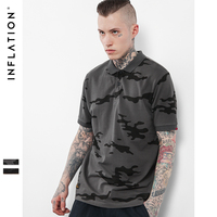 INFLATION 2017 New Collection Men Blue Camo Polo Shirt Casual Cotton Men Blue Camo Polo Shirts