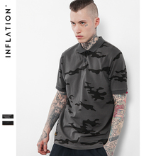 INFLATION 2017 New Collection Men Blue Camo Polo Shirt Casual Cotton Men Blue Camo Polo Shirts Blue Camo Polo Tshirts