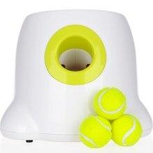 Игрушки для собак теннис запуска автоматического метательная машина мяч для питомцев бросок устройство 3/6/9 m раздел выбросов с 3 мяча