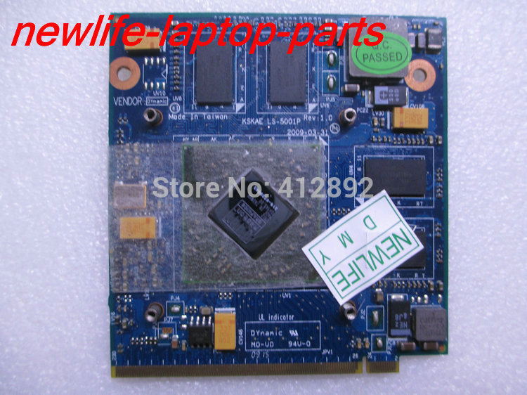 free shipping original A500 L500 L550 VGA Video Card HD4650 M96 DDR3 1G 216-0729042 KSKAE LS-5001P K000075440 MXM II 100% tested 216 0729042 216 0729042 chips 100