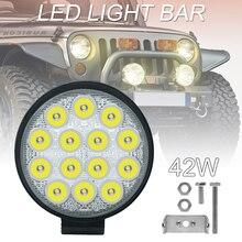 Auto Licht 4 Inch Abgerundeten 4200LM Led 12V 24V Arbeit Licht Bar Fahren Schoten Spot Strahl Arbeit lampe für Off Road Suv Auto Arbeit Lichter