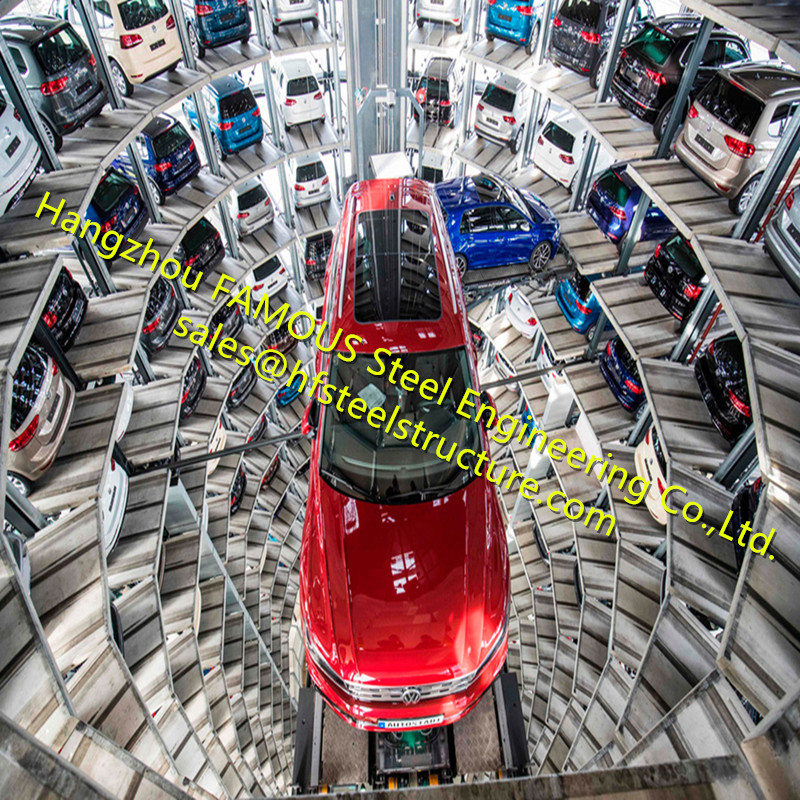 Multi Level Cylindrical Parking Lots Automated Car Delivery Tower Hydraulic Rotary Mechanical Parking Complexes