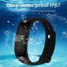 IP67 Спорт Тренажерный зал счетчик шагов монитор сердечного ритма здоровье наручные часы V66 Водонепроницаемый фитнес трекер Шагомер для Android IOS