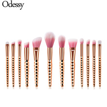 6/7/8/12pcs Luxury Rose Gold Makeup Brushes Professional Soft Hair Foundation Blush Concealer Make Up Cosmetic Tools Kit