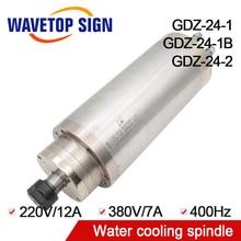 Шпиндель водяного охлаждения 3.2kw GDZ-24-1 GDZ-24-1B GDZ-24-2 3.2kw 220 В 24000 об./мин. 12A 400 Гц Dia.100mm 105 мм