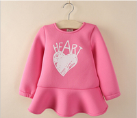 Baby Girls Valentine Dress 2016 Brand Princess Dress For Toddler Clothes Graffiti Heart Pattern Designer Kids