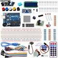 Para Arduino UnO R3 Starter Kit Básico Suíte Aprendizagem Kit Atualizado Motor de Passo LCD1602 LED Fio Jumper Para Arduino