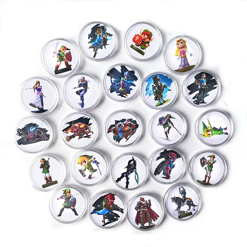 2019 New Data Full 24Pcs/lot The Legend of Zelda Collection Coin NFC Tag Of Amiibo Card Ntag215 Link's Awakening For NS Wii U