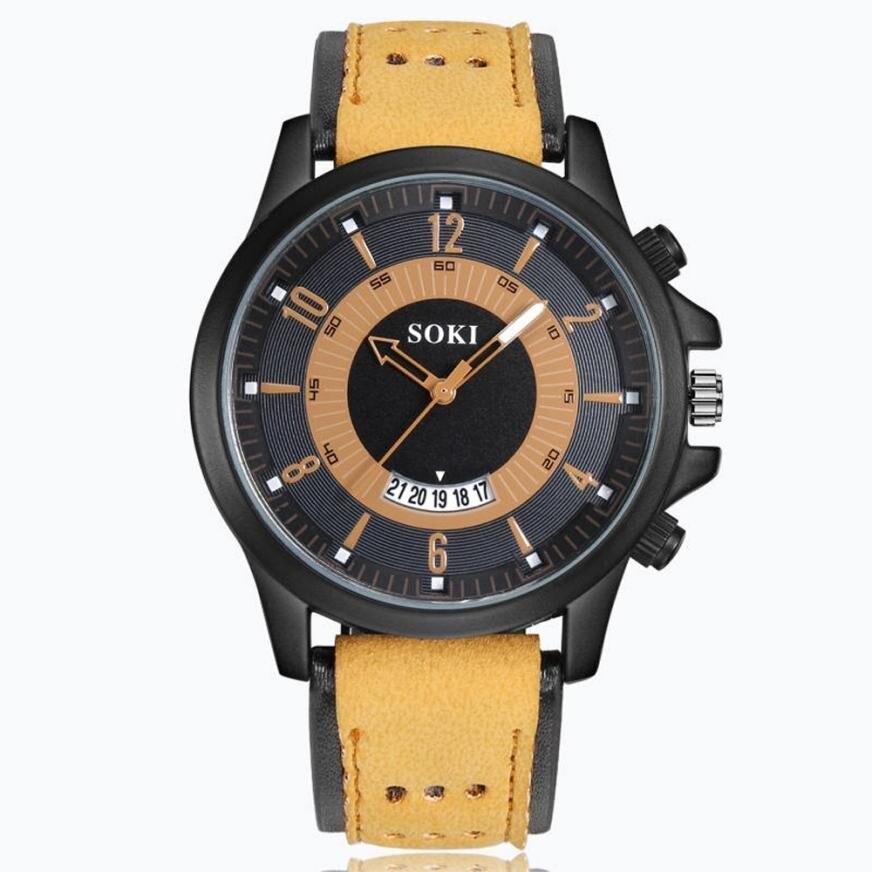 2018 Prawdziwy Top Sprzedaży Luksusowa Moda Żel krzemionkowy Skóra - Męskie zegarki - Zdjęcie 3