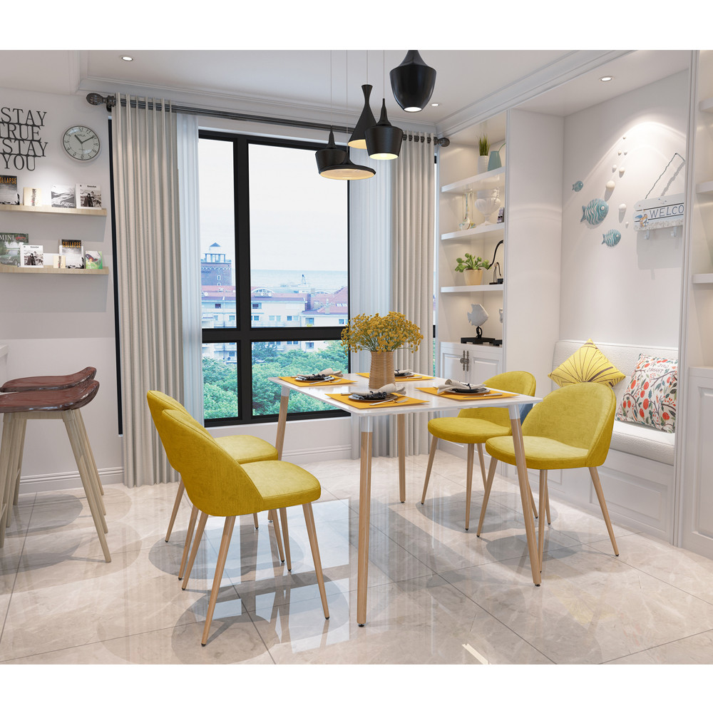 online get cheap modern furniture legs aliexpresscom  alibaba group -  pieces per set yellow dining chairs fineview armless metal legs side chairhome furniture stock