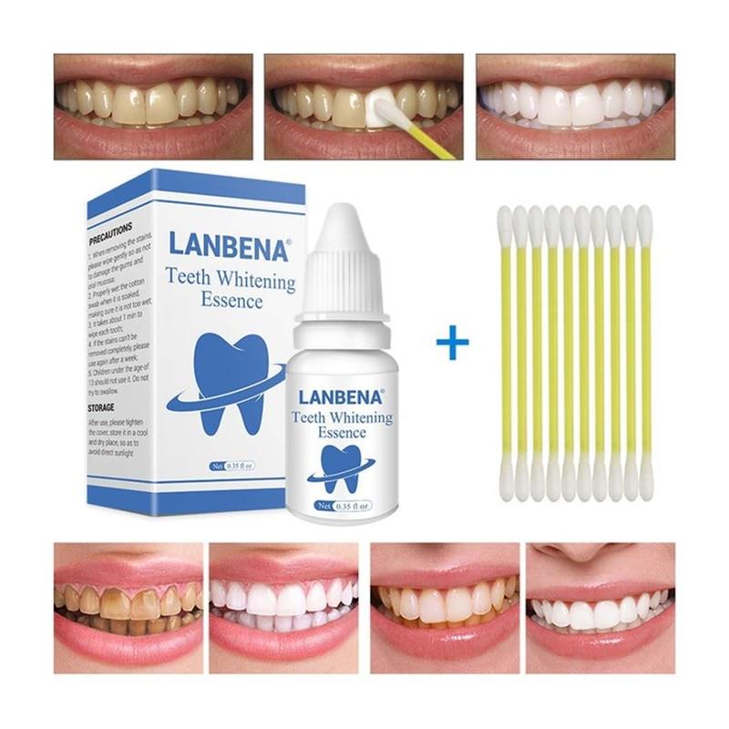 LANBENA Wybielanie zębów Essence Powder Oral Hygiene Cleaning Serum - Ochrona skóry