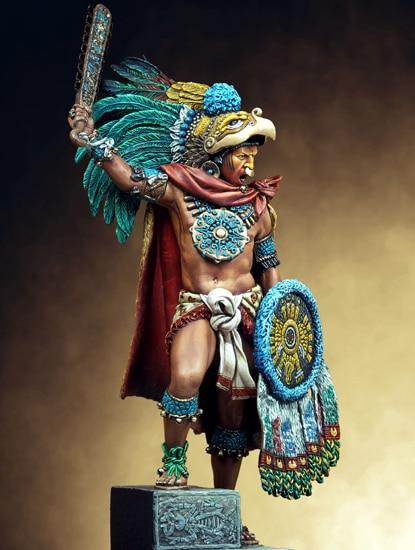 1/24 75mm Ancient Montezuma Man Knight 75mm   Toy Resin Model Miniature Resin Figure Unassembly Unpainted
