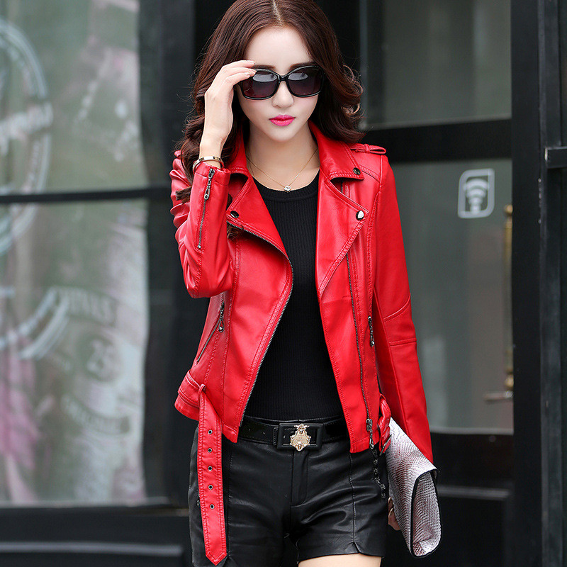 Aliexpress.com : Buy 2017 Autumn Women's Leather Jacket Slim Short ...