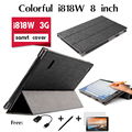 For Colorful i818W 8 inch tablet leather case to 3g Win8.1 special thirty percent cases Luxury Leather Stand tablet Case Cover