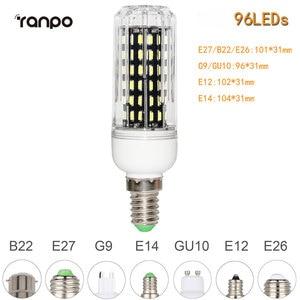 Image 5 - E26 E27 E12 E14 G9 GU10 LED Corn Bulb 4014 SMD 10W 20W 25W 30W chiếu Sáng 36 Đèn LED 72 Đèn LED 96 Đèn LED 138 Đèn LED Ampoule Đèn Trợ Sáng
