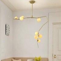 Modern LED chandelier living room suspended lamp home deco lighting fixtures bedroom hanging lights Nordic suspension luminaires