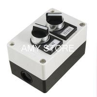 Rectangle 3 Position Rotary Push Button Switch Station