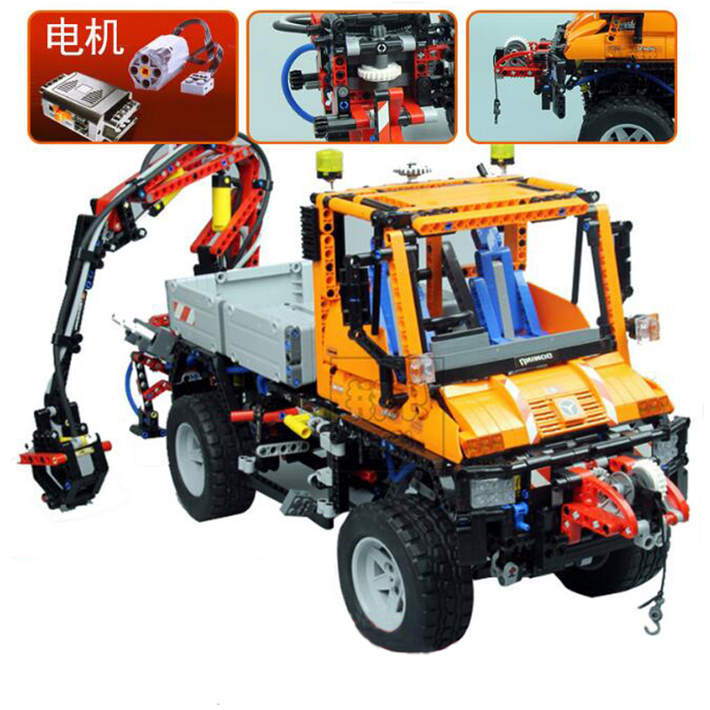 Technic Series Building Blocks Mechanical Truck Unimog U400 Model Bricks Education Toys Compatible Lepin Gifts For Kids 20019 lego education 9689 простые механизмы