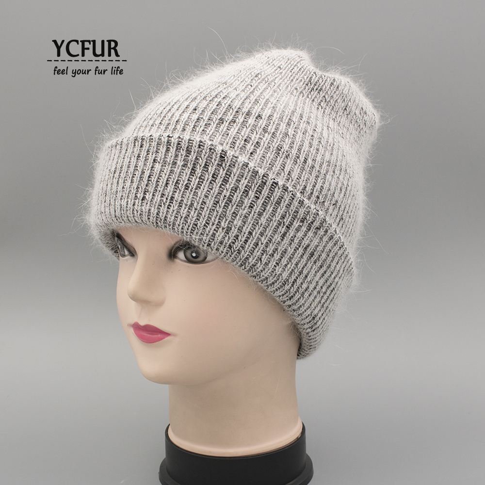 YCFUR Women Caps Hats Autumn Winter Balaclava Female Lady Knit Wool Beanies Hats For Women Soft Warm Casual Hat Cap Girls 2017 new fashion autumn and winter wool leaves hollow out knitting hat thick female cap hats for girls women s hats female cap