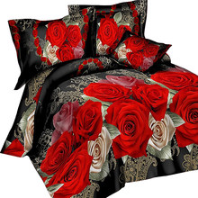Urijk 3/4PCS 3D Print Leopard Tiger Rose Lion Flower Soft Bedding Sets Duvet Cover Bed Set Pillowcase Queen Size Dorp Shipping(China)