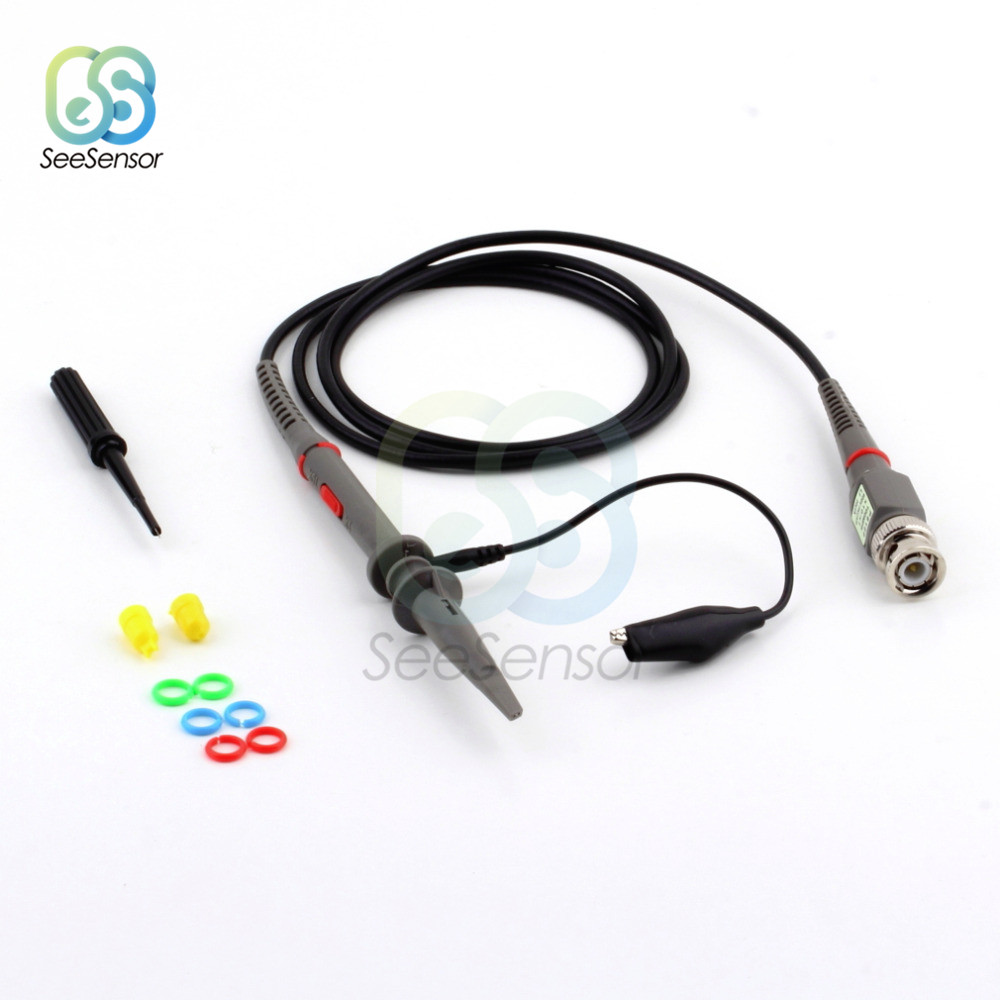 P6100 DC-100MHz Oscilloscope Probe Kits 120cm Scope Clip Test Clamp Probe Cable 100MHz Tools Accessories DIY Electronic