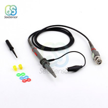 P6100 DC-100MHz Oscilloscope Probe Kits 120cm Scope Clip Test Clamp Cable 100MHz Tools Accessories DIY Electronic