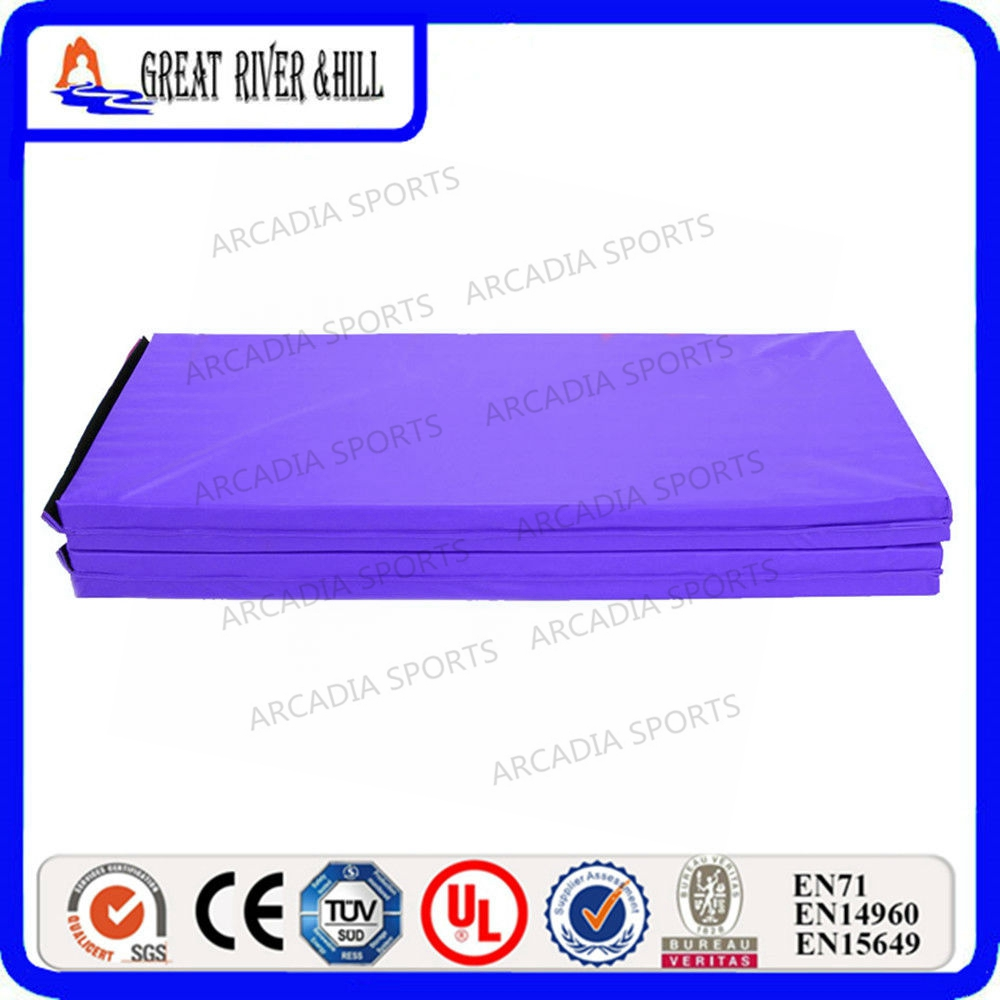 2.4mx1.2mx5cm High quality fitness gym floor mat folding gymnastics mats for sale gymnastics mat thick four folding panel fitness exercise 2 4mx1 2mx3cm
