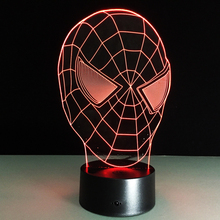 Hot sale Spiderman Colorful gradient font b 3D b font night font b light b font