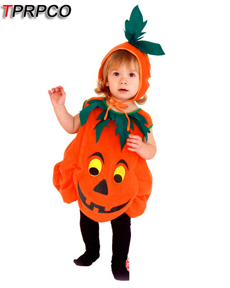 TPRPCO Children's Halloween Costumes Pumpkin Unisex Pumpkin skirt Costume Kids skirt Cosplay game uniforms nl118