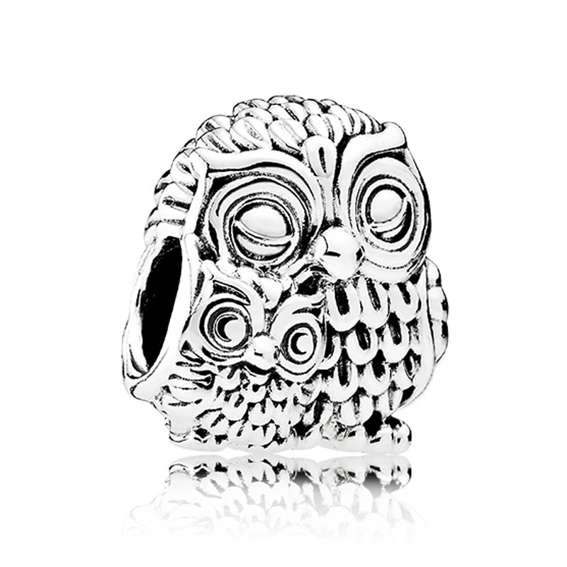 Authentic 925 Sterling Silver Bead Charm A Cute Parent Owl And Its Owlet Beads Fit Women Pandora Bracelet Bangle DIY Jewelry 2015 20 pandora diy page 1