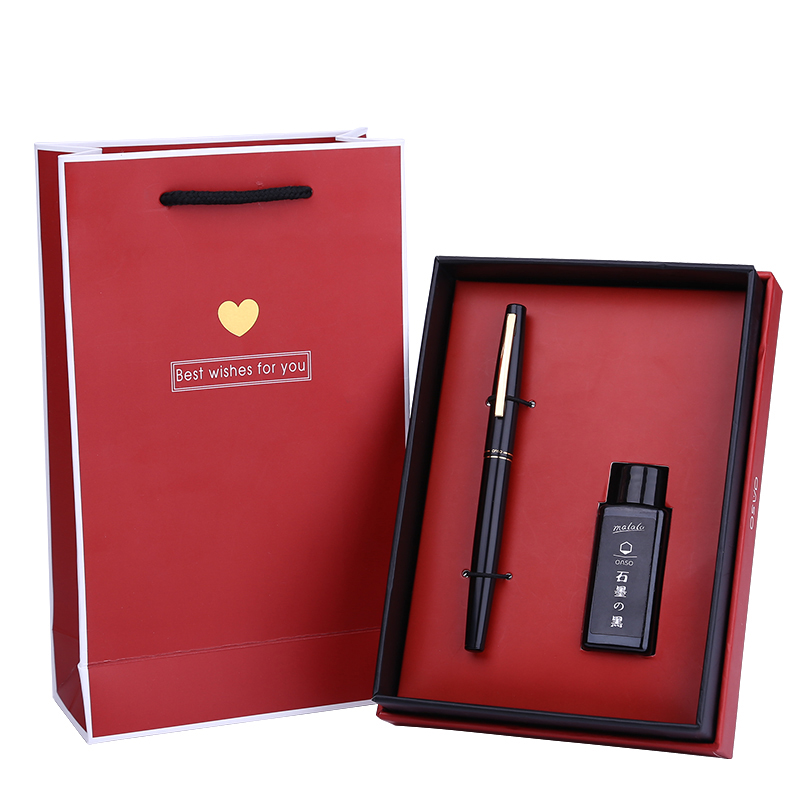 Роскошные extra fine 0.38 мм финансовой авторучка набор чернил Розовый и красный цвет черный, серебристый цвет золото для выбирают Рождественский...